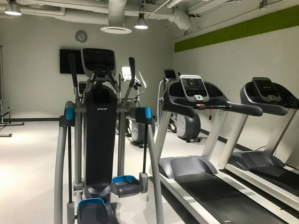 Students have access to a gym with cardio and weight equipment for use between classes in the same building where much of their learning will be done.  (Madelyn Reese/View) @MadelynGReese