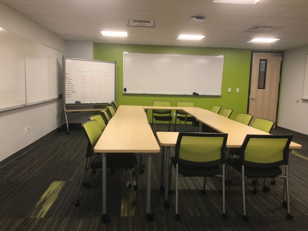 A multipurpose classroom at UNLV's Shadow Lane campus is seen, Monday, July 31. Furniture can be removed and the space used for yoga and meditation activities. (Madelyn Reese/View) @MadelynGReese