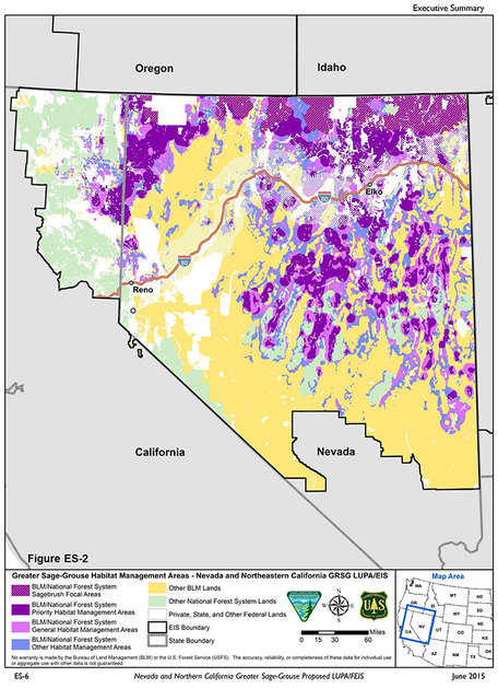 (Courtesy/Nevada and Northern California Greater Sage Grouse Proposal)