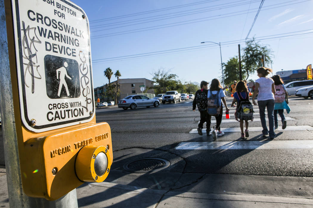 The Reno Gazette-Journal reports the girl was in a marked crosswalk on Monday when the car hit her, causing bumps and bruises. Jeff Scheid Las Vegas Review-Journal @jeffscheid