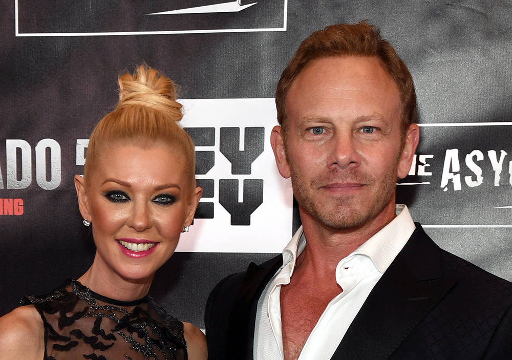 "Actress Tara Reid and actor Ian Ziering attend the premiere of ""Sharknado 5: Global Swarming.""  (Ethan Miller/Getty Images for Caesars Entertainment)"
