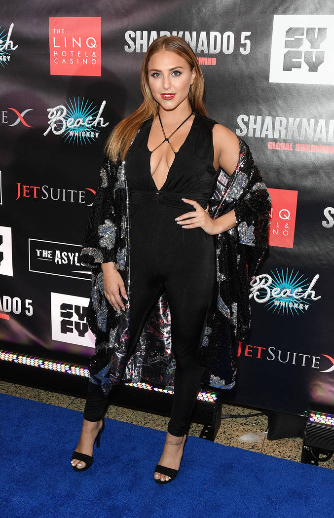 "Actress Cassie Scerbo attends the premiere of ""Sharknado 5: Global Swarming.""  (Ethan Miller/Getty Images for Caesars Entertainment)"