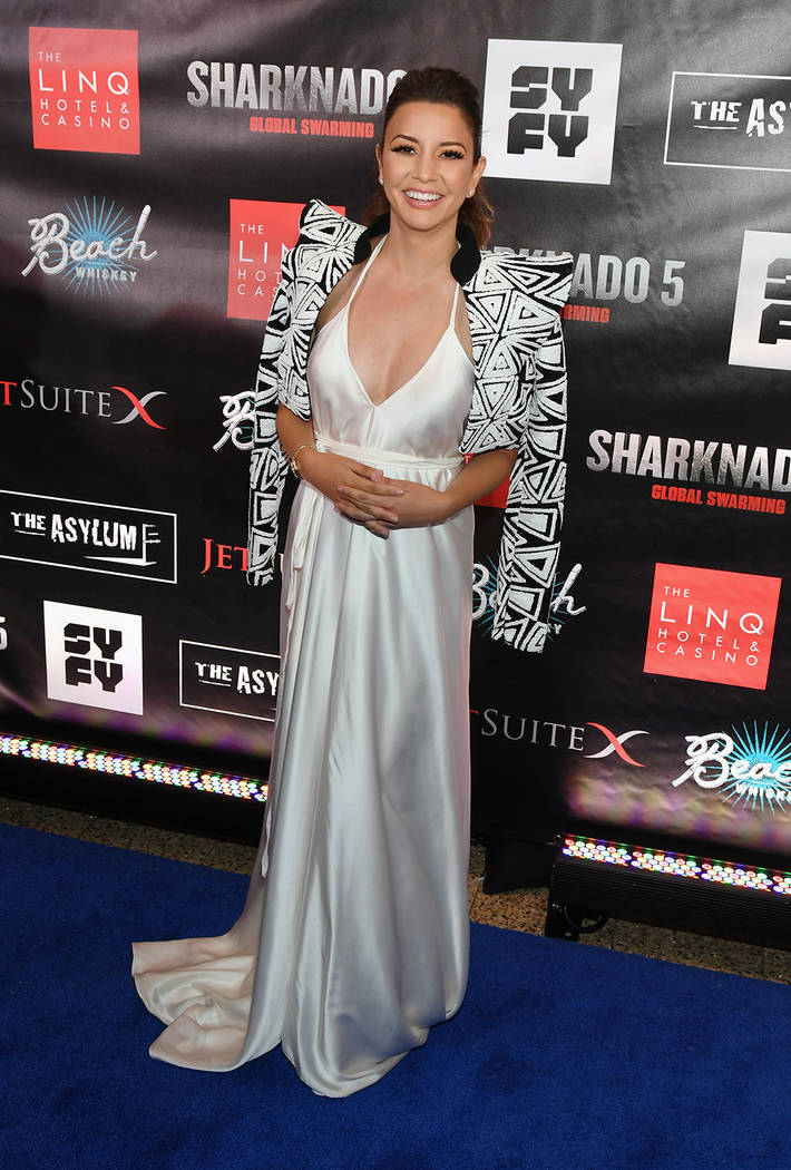 "Actress Masiela Lusha attends the premiere of ""Sharknado 5: Global Swarming.""  (Ethan Miller/Getty Images for Caesars Entertainment)"