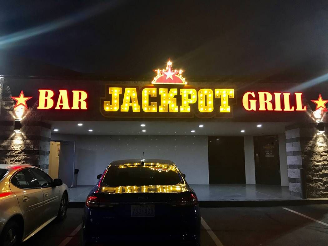 Jackpot Bar and Grill opened in December in the former Scoundrels Pub building. Scoundrels closed in 2015 after a fire and the loss of its liquor license. The Nevada Gaming Control Board later rev ...