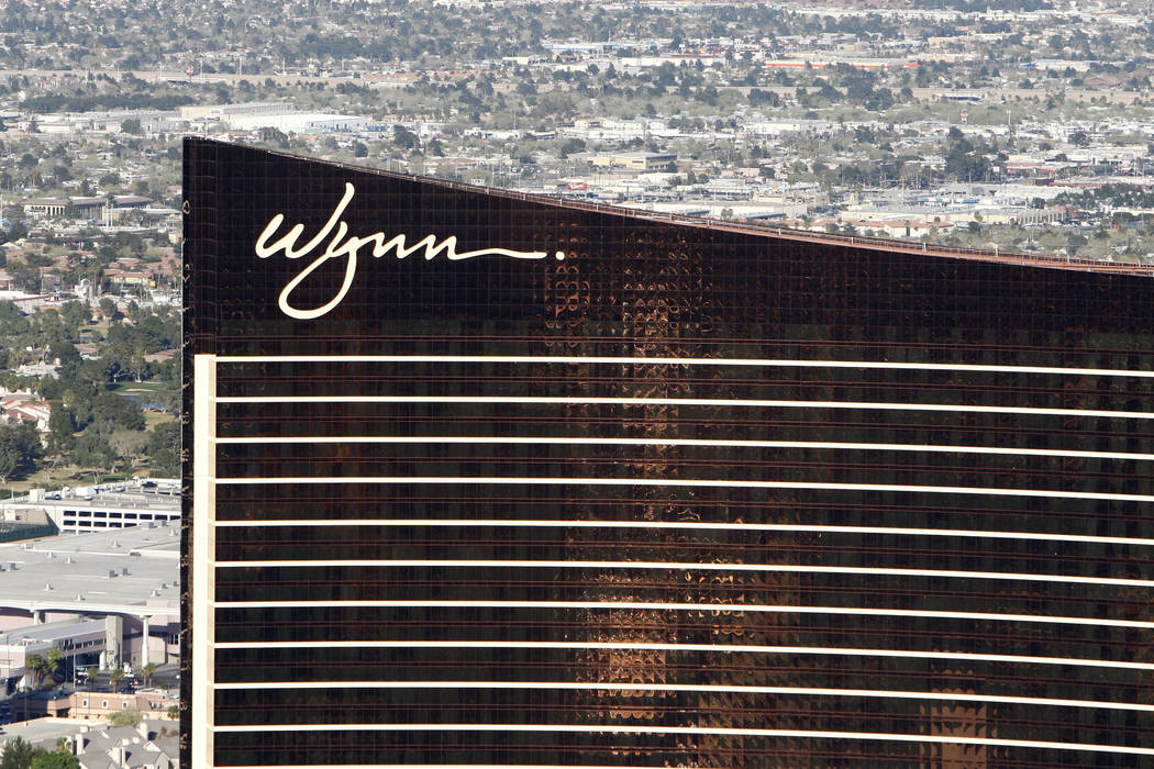 Wynn Las Vegas shown from the M Resort Blimp on Wednesday, March 18, 2009. (Duane Prokop/Las Vegas Review-Journal)