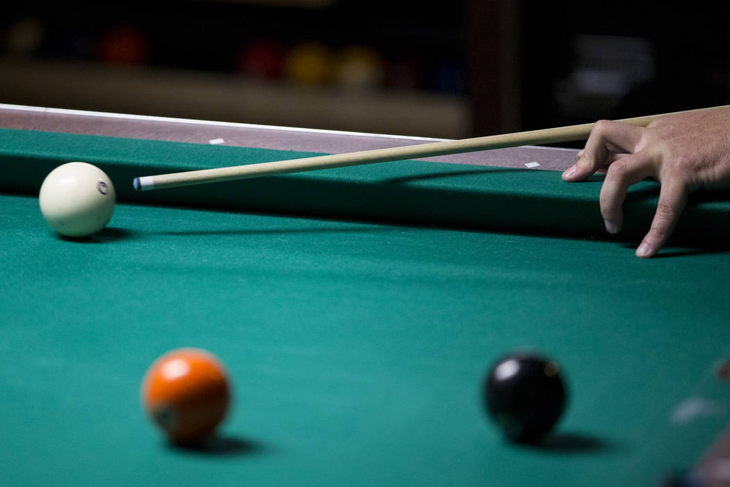Pool players converge for worlds largest tournament at westgate gary walker of oklahoma during the american poolplayers association world pool championships tournament at the westgate keyboard keysfo Gallery