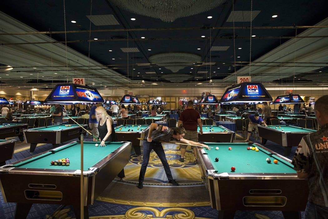 Pool cues for sale las vegas claire sinclair tries for Pool trade show vegas