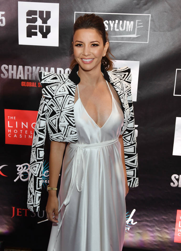 "LAS VEGAS, NV - AUGUST 06:  Actress Masiela Lusha attends the premiere of ""Sharknado 5: Global Swarming"" at The LINQ Hotel & Casino on August 6, 2017 in Las Vegas, Nevada.  ( ..."