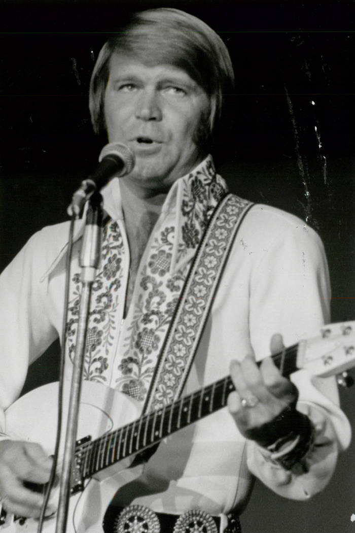 Glen Campbell performs in Las Vegas. (Las Vegas News Bureau)