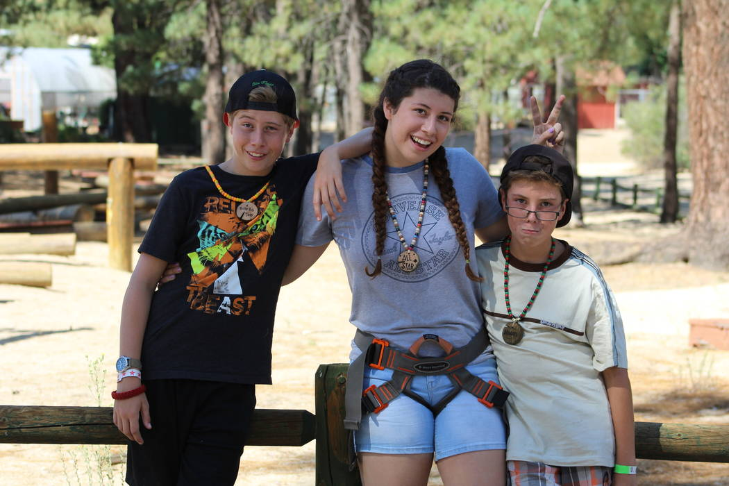 """""""My brother Cole lives two miles away from me but I only see him once a month,"""" said camper Aria Williams (middle), who was adopted at age 16 and lives in Gardnerville, Nevada. """"My brother M ..."""