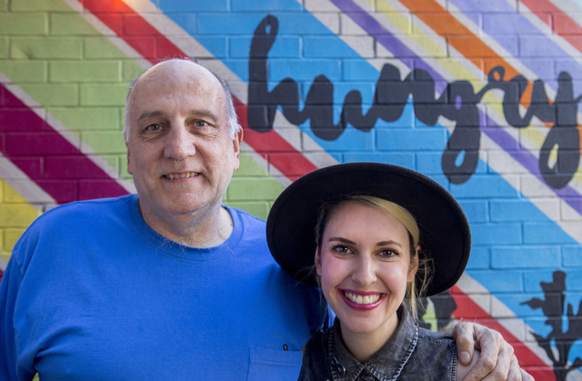 Chef and owner of VegeNation, Donald Lemperle, right, and Kelly Bennett, creative director, stand for a portrait on the patio of the restaurant, Thursday, Nov. 10, 2016, in Las Vegas. Elizabeth Pa ...