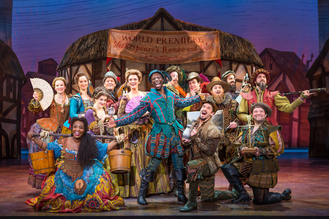 """""""Something Rotten!"""" welcomes audiences to the '90s — the 1590s — and a theatrical feud between rock star William Shakespeare and the struggling Bottom brothers, Nick and Nigel. (Jeremy D ..."""