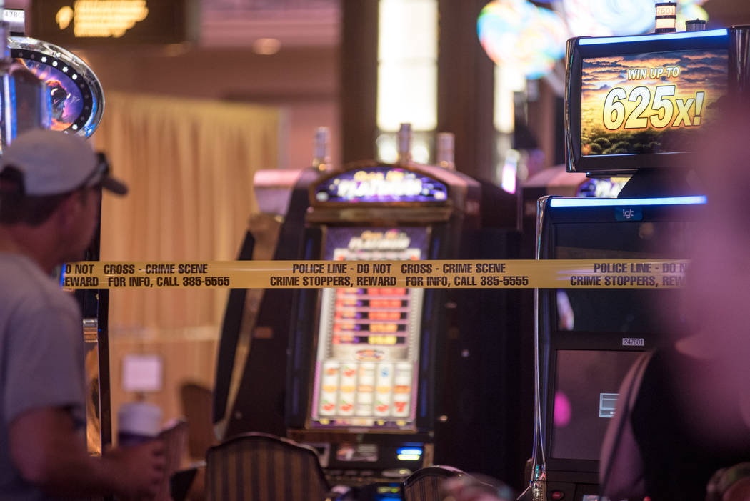 A security guard was stabbed at the Palazzo hotel-casino on Wednesday, August 9, 2017, in Las Vegas. Morgan Lieberman Las Vegas Review-Journal