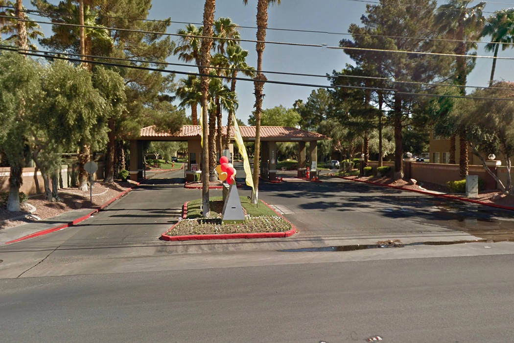 The entrance to 5370 E. Craig Road. Google Street View.