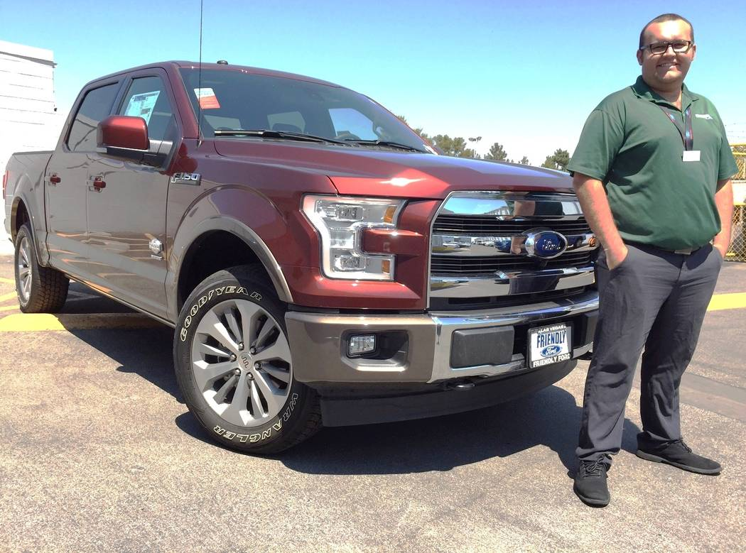 Friendly Ford The 2017 Ford King Ranch F-150 has proven very popular because of its multi-faceted features. Shown with the truck is dealership internet sales consultant Tyler Wade.