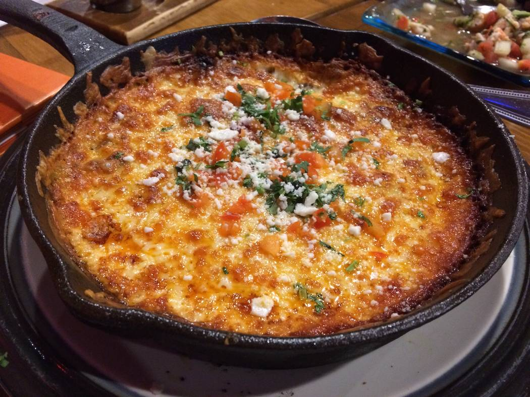 """Salud Mexican Bistro and Tequileria's offerings include its three cheese """"queso"""" appetizer."""