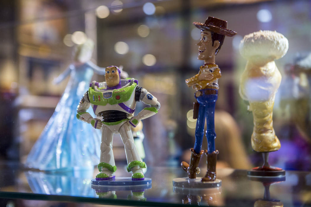 Buzz and Woody artwork during the grand opening of the Magical Memories Disney Fine Art Gallery in the Forum Shops at Caesars on Thursday, Aug. 10, 2017.  Patrick Connolly Las Vegas Review-Journal ...