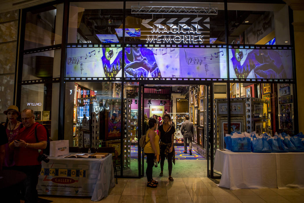 The grand opening of the Magical Memories Disney Fine Art Gallery in the Forum Shops at Caesars on Thursday, Aug. 10, 2017.  Patrick Connolly Las Vegas Review-Journal @PConnPie