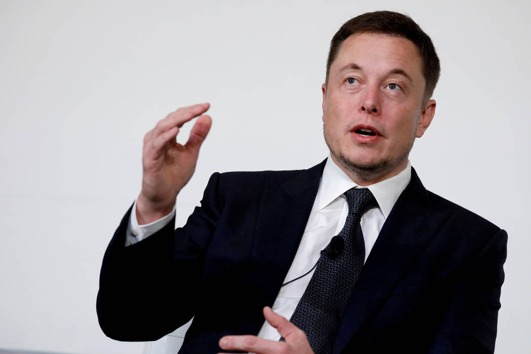 Elon Musk, founder, CEO and lead designer at SpaceX and co-founder of Tesla, speaks at the International Space Station Research and Development Conference in Washington, U.S. on July 19, 2017. Aar ...