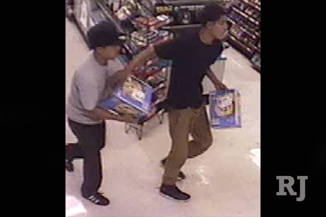 Police are looking for three suspects caught on camera during a robbery that occurred in the early hours of Tuesday, August 8, 2017 on the 5400 block of Vegas Drive, (Las Vegas Metropolitan Police ...