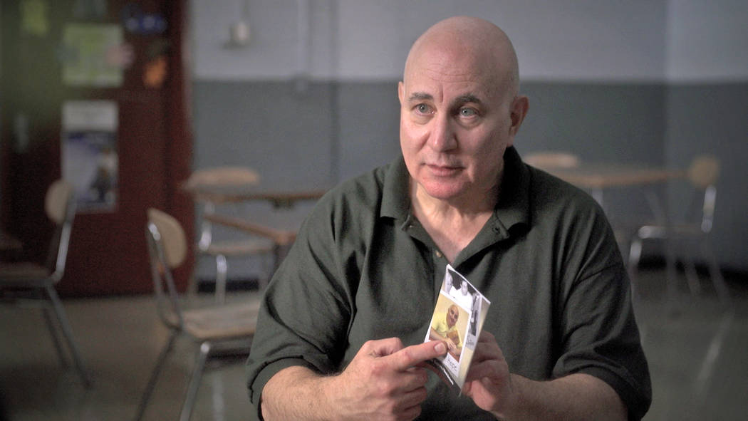 In this June 2017 frame from video, provided by CBS News, Son of Sam killer David Berkowitz is interviewed at the Shawangunk Correctional Facility in Wallkill, N.Y., for a CBS News special to be b ...