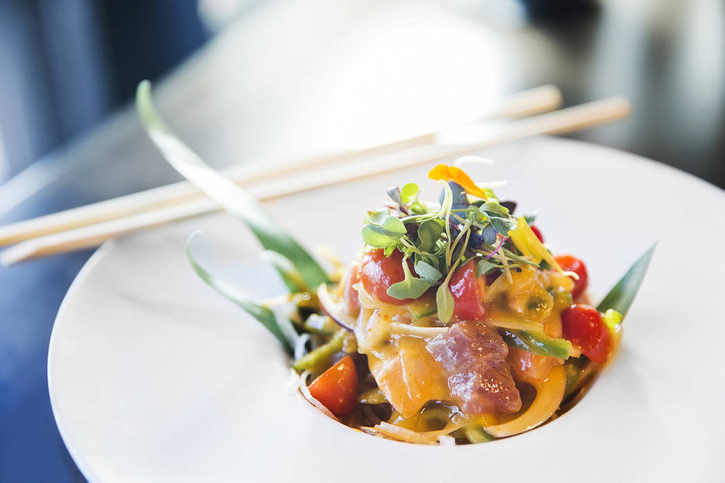 The mango ceviche at Umami on Saturday, Aug 12, 2017, in Las Vegas. Benjamin Hager Las Vegas Review-Journal @benjaminhphoto