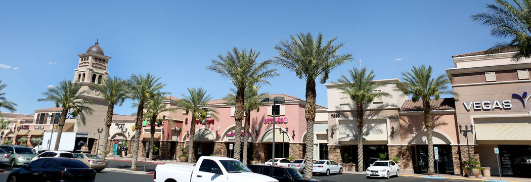 A strip mall in Las Vegas Montecito Marketplace, Thursday, Aug. 10, 2017. The strip mall has sold for $63 million. Elizabeth Brumley Las Vegas Review-Journal
