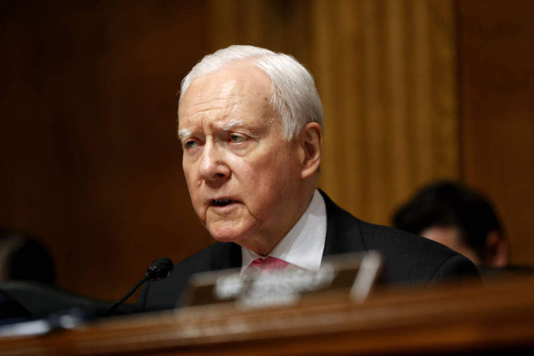 Senate Judiciary Committee member Sen. Orrin Hatch, R-Utah, speaks on Capitol Hill in Washington on  July 12, 2017. (AP Photo/Pablo Martinez Monsivais, File)