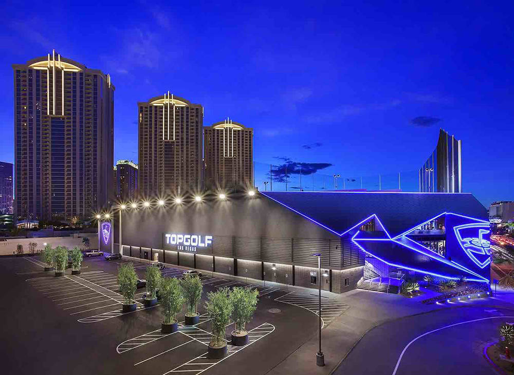 Top Golf is a four-level driving range and entertainment venue at 4627 Koval Lane. (Michael Baxter, Baxter Imaging LLC)