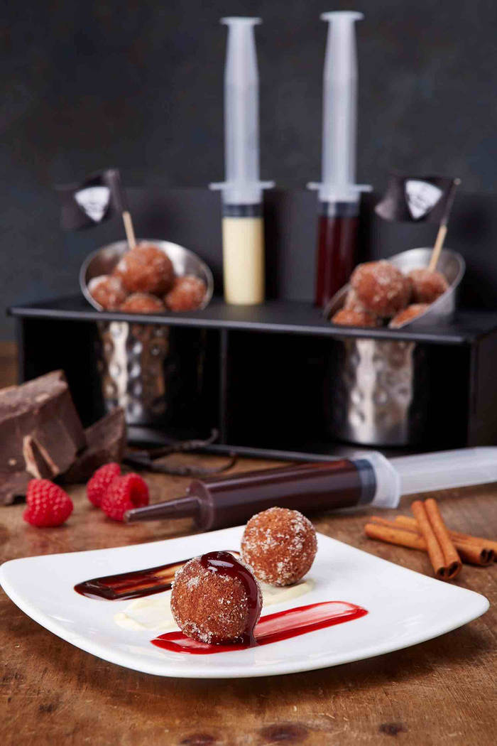 Top Golf serves up treats such as these injectable donut holes. (Michael Baxter, Baxter Imaging LLC)