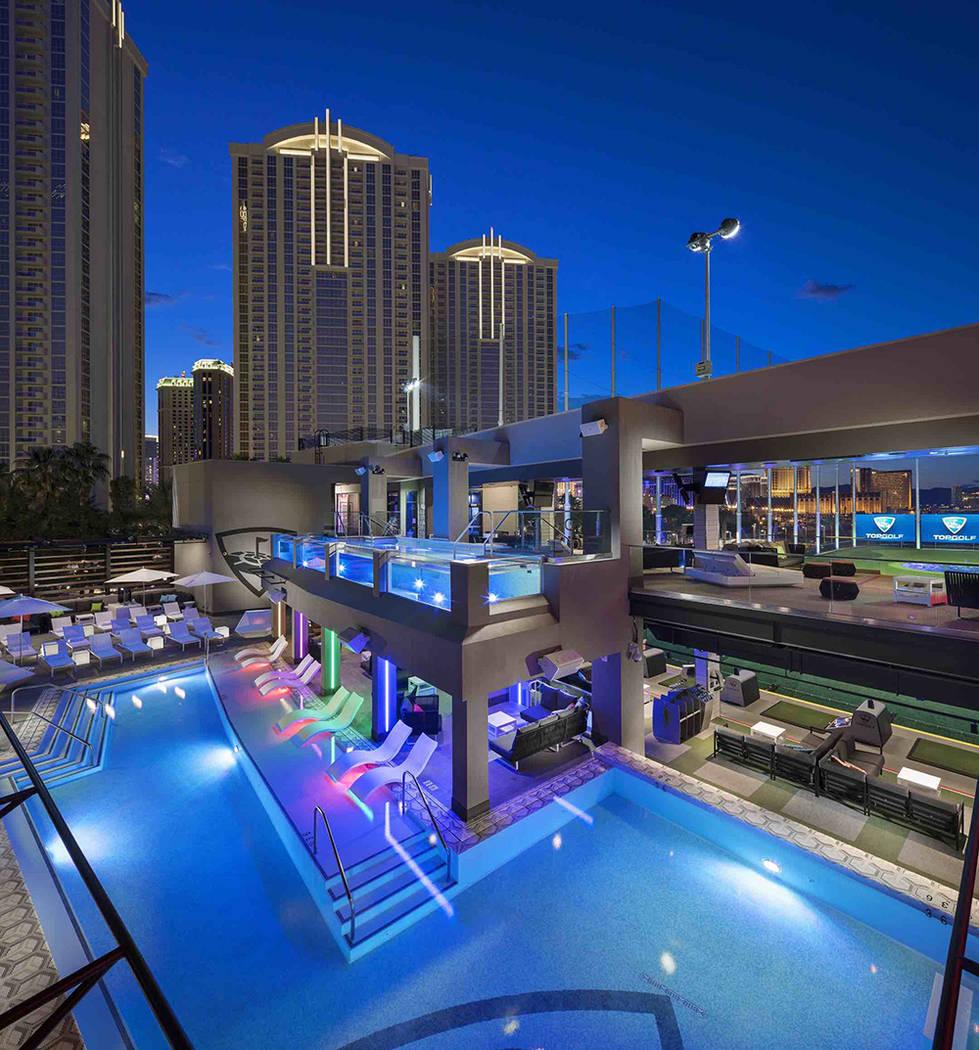 Top Golf has a pool area. (Michael Baxter, Baxter Imaging LLC)