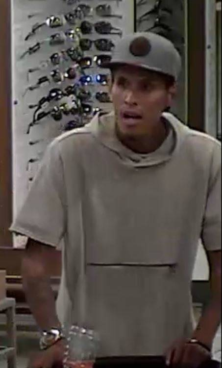 Police are looking for a man connected to a Aug. 4 robbery at a Kohl's store in the west Las Vegas Valley. (Las Vegas Metropolitan Police Department)