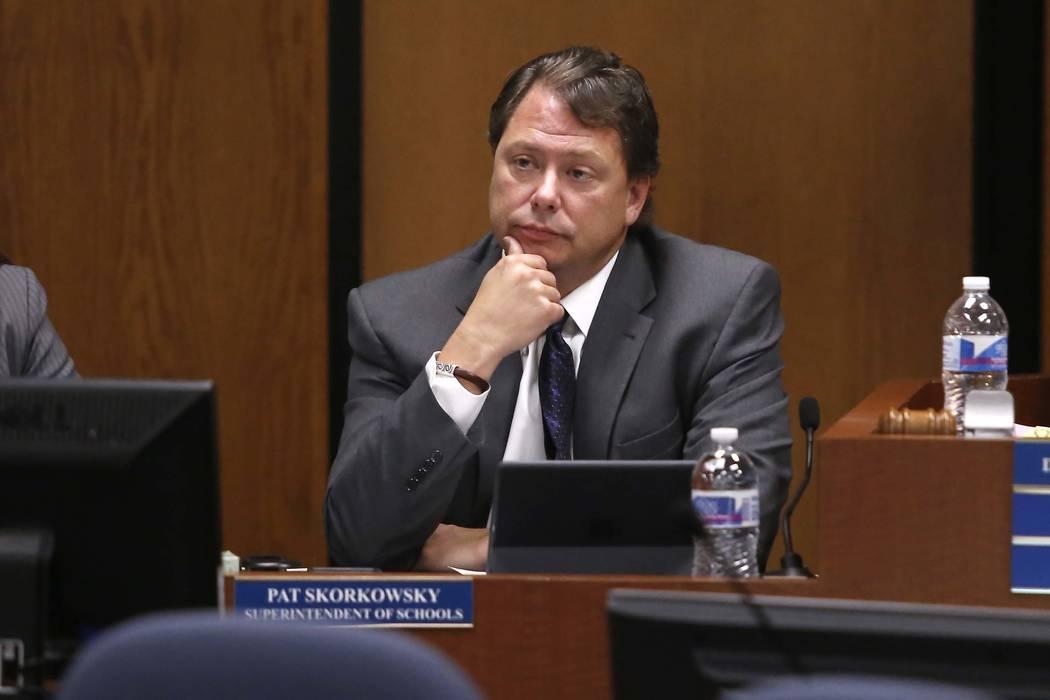 Clark County School District Superintendent Pat Skorkowsky. Christian K. Lee/Las Vegas Review-Journal @chrisklee_jpeg