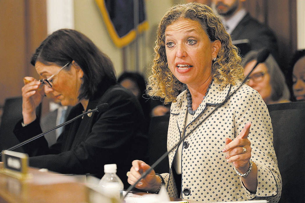 House Budget Committee member Rep. Debbie Wasserman Schultz, D-Fla., speaks in May in Washington. (AP Photo/Jacquelyn Martin, File)