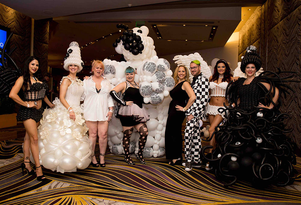 AFAN's annual Black & White Party is known for its extravagant costumes. This year's party, which will be held Aug. 19 at the Hard Rock Hotel, has a New Orleans theme. (Tony Harvey)