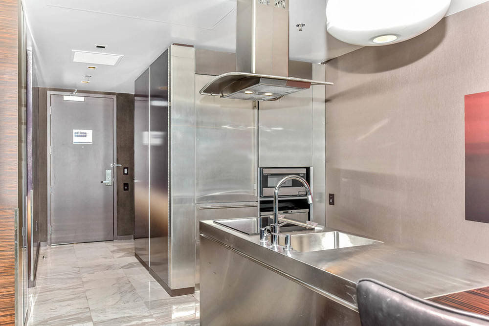 A kitchen in one of the units at Palms Place. (Palms Place)