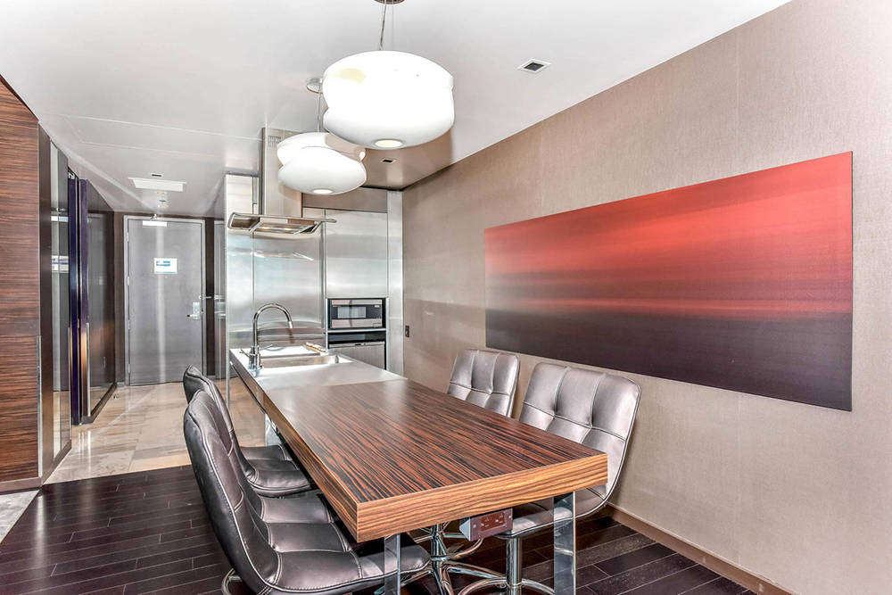 The dining room off the kitchen. (Palms Place)