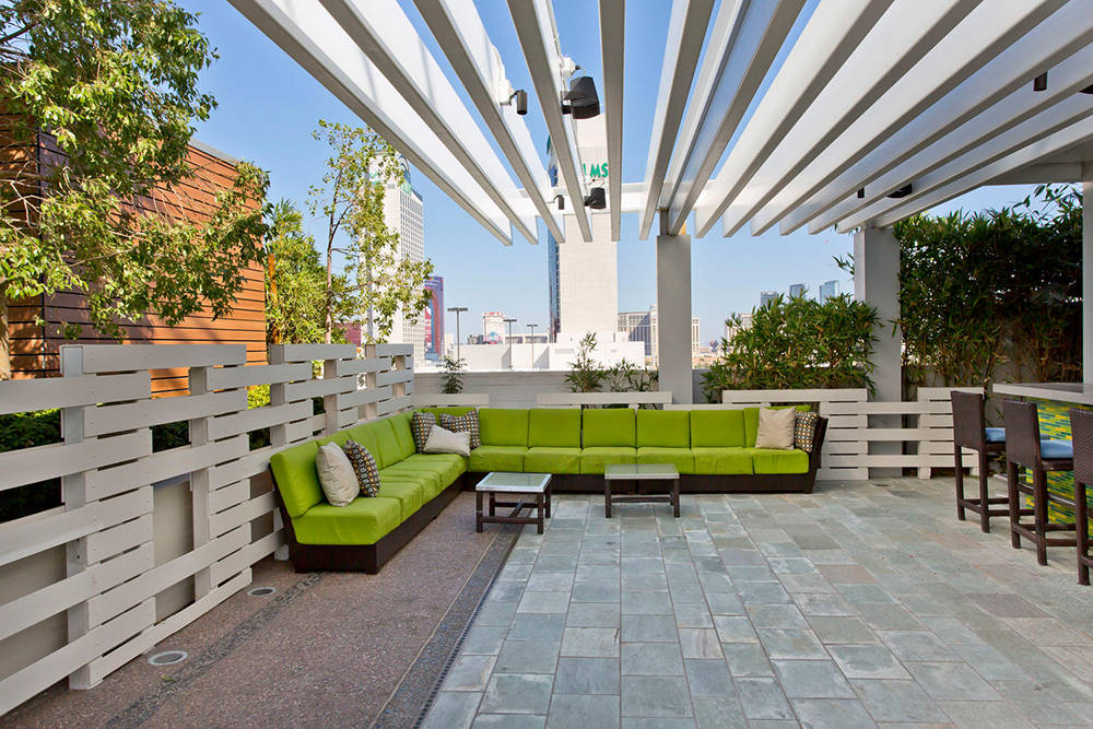 An outdoor area at Palms Place. (Palms Place)