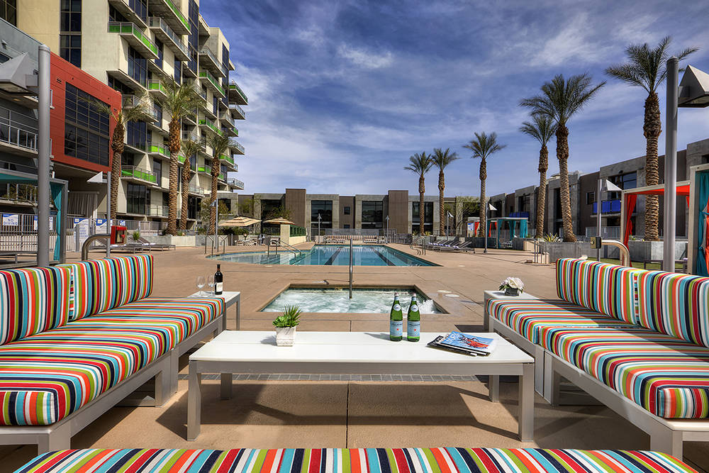 The downtown Las Vegas high-rise Juhl has a pool area. (Juhl)