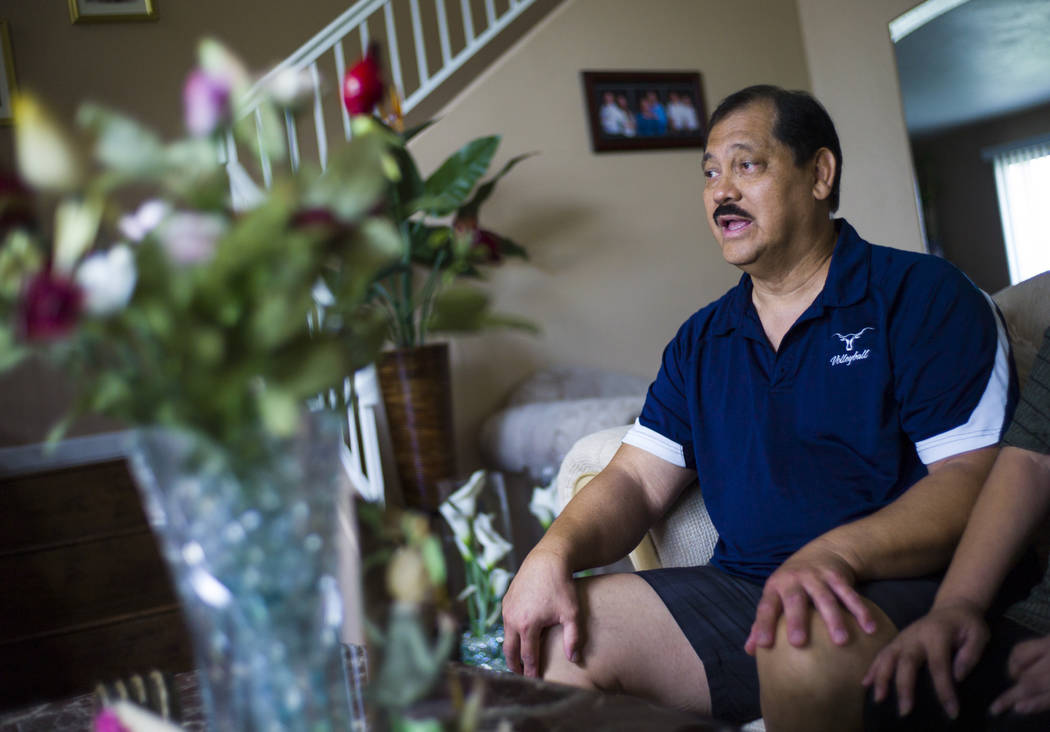John Cruz, a Guamanian who has lived in the Las Vegas area for over 20 years, at his home in North Las Vegas on Friday, Aug. 11, 2017. Chase Stevens Las Vegas Review-Journal @csstevensphoto