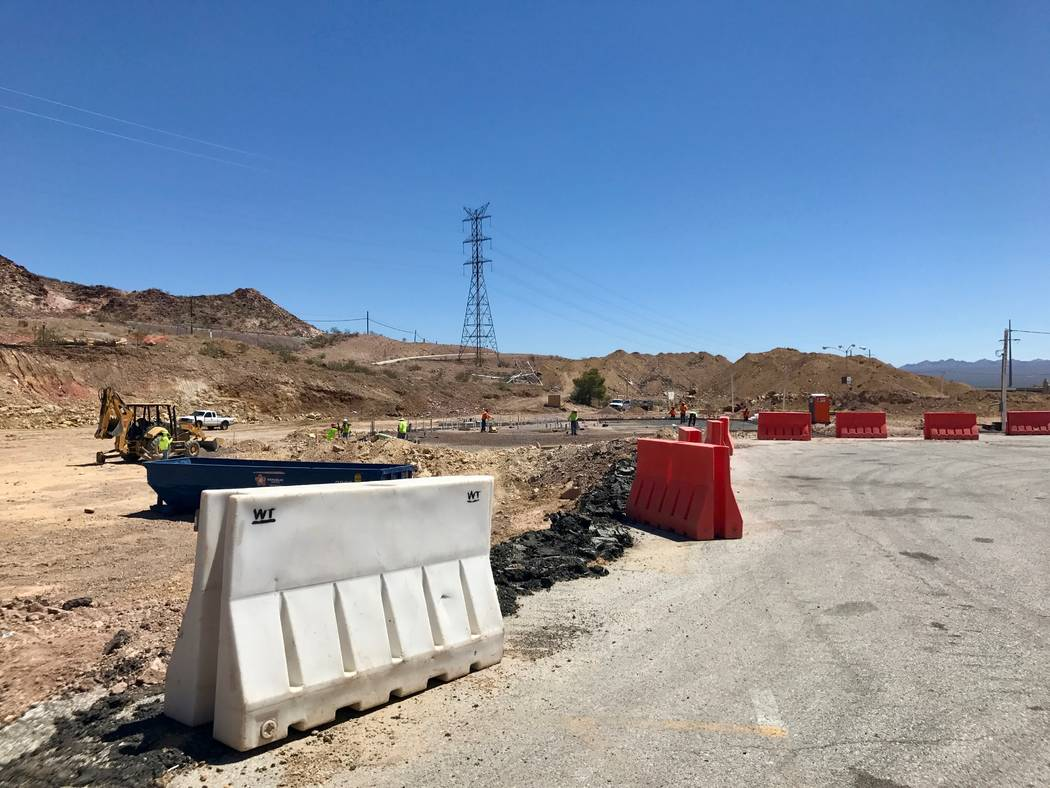 Work continues on the truck stop adjacent to the Railroad Pass hotel-casino on Aug. 17. Work commenced in January and is expected to be complete by the end of the year. (Madelyn Reese/View) @Madel ...