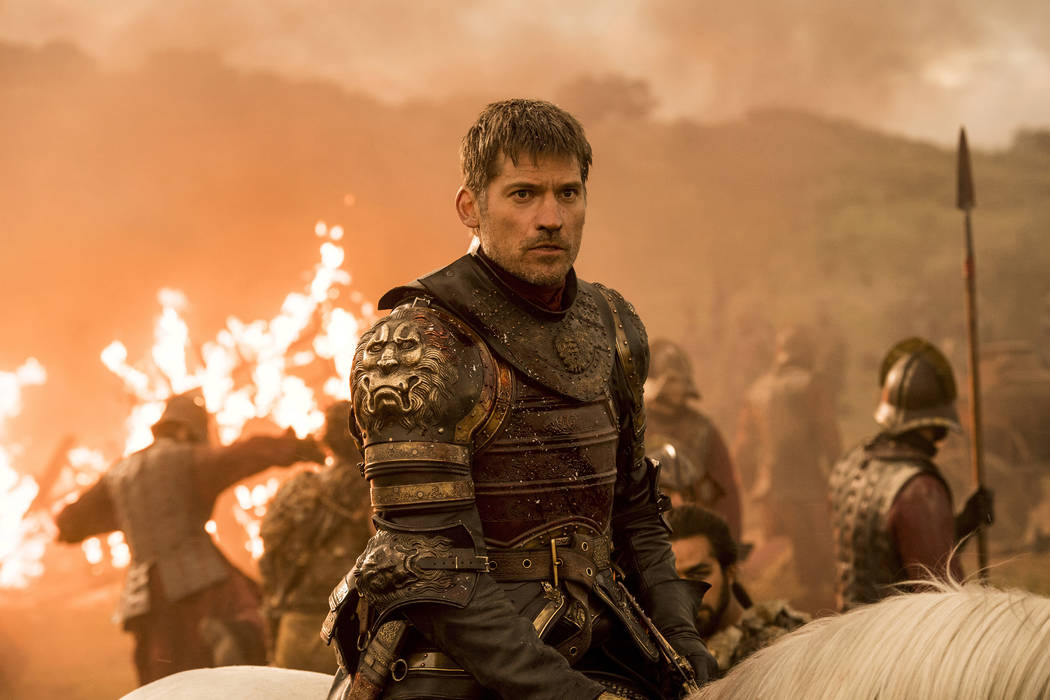 "This file image released by HBO shows Nikolaj Coster-Waldau as Jaime Lannister in an episode of ""Game of Thrones,"" which aired Sunday, Aug. 6, 2017. Hackers released a July 27, 2017, email from HB ..."