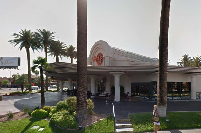 Hard Rock Cafe, 4475 Paradise Road, next to the Hard Rock Hotel and Casino. (Google Street View)