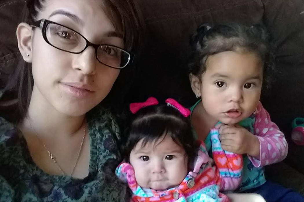 Kimberly A. Bautista and her two children, ages 8 months and 2 years old (North Las Vegas Police Department)