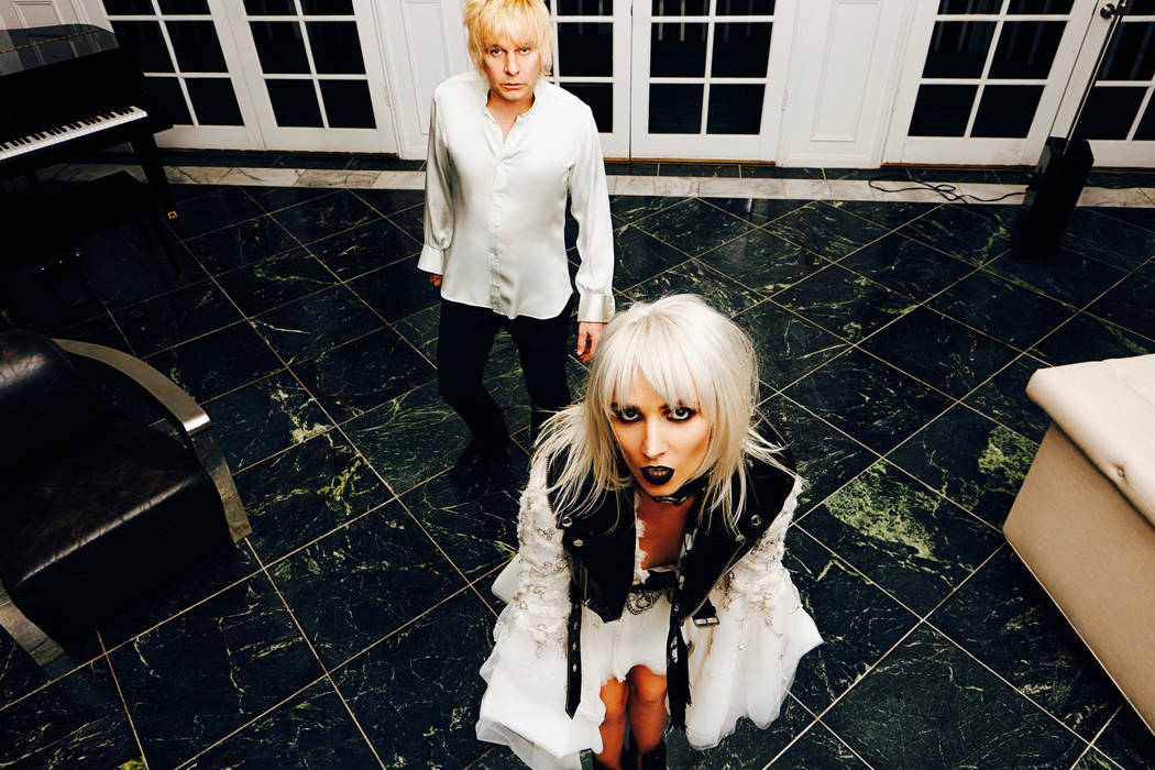 Zak Starkey and Sshh Liguz of Sshh play Sand Dollar Lounge each night of The Who's residency at the Colosseum at Caesars Palace. (Diana Gomez)