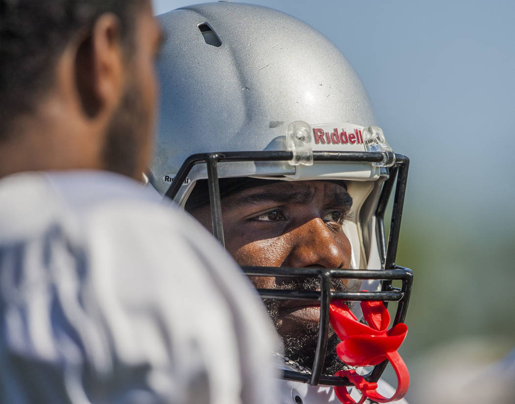 UNLV wide receiver Darren Palmer during football camp at Rebel Park on Monday, Aug. 14, 2017.  Patrick Connolly Las Vegas Review-Journal @PConnPie