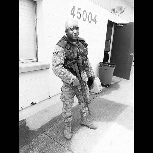 Darren Palmer, in December 2012, during training in Guam for bare base deployment operations. (Darren Palmer)