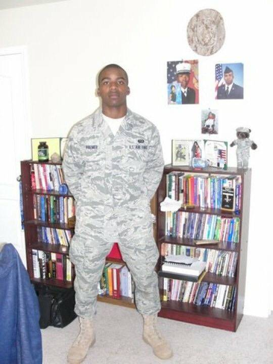 Darren Palmer, in August 2010. His first day back home from basic training and Technical School training for his military occupation. (Darren Palmer)