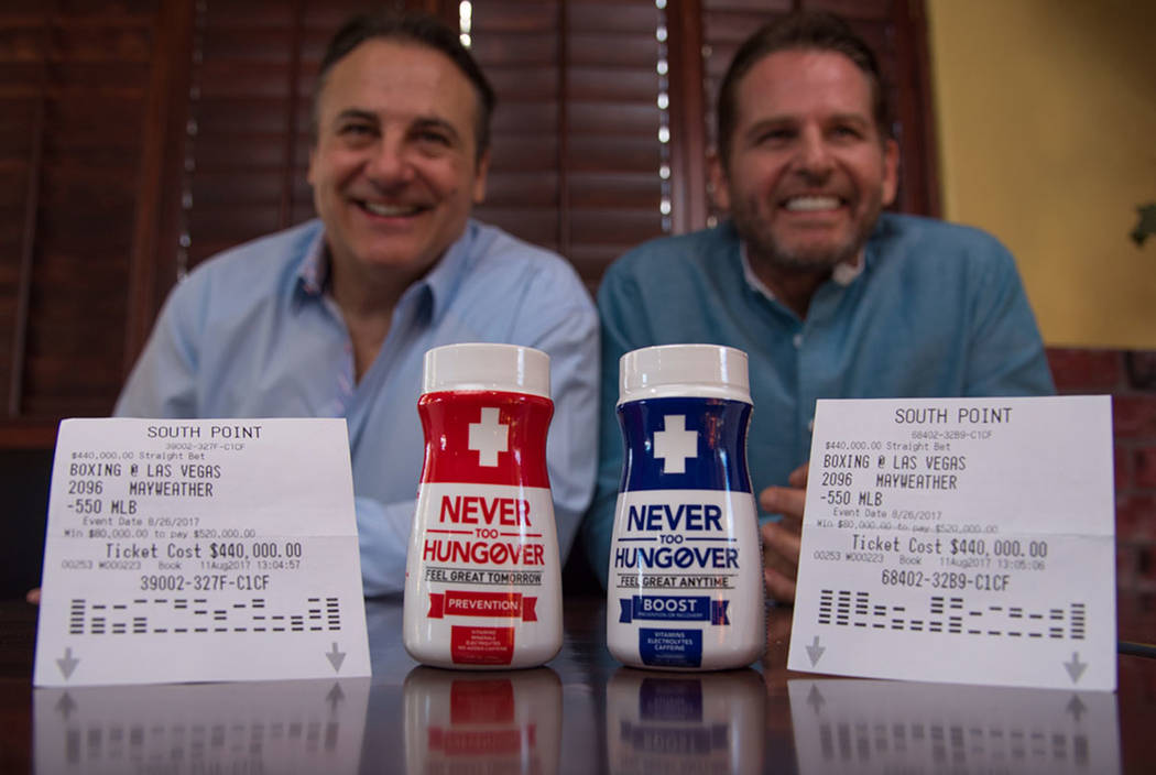 Gavin Maloof, left, Joe Maloof, right, and Phil Maloof (not pictured) made an $880,000 wager on Floyd Mayweather, Jr. to beat Conor McGregor on Aug. 26. (courtesy)