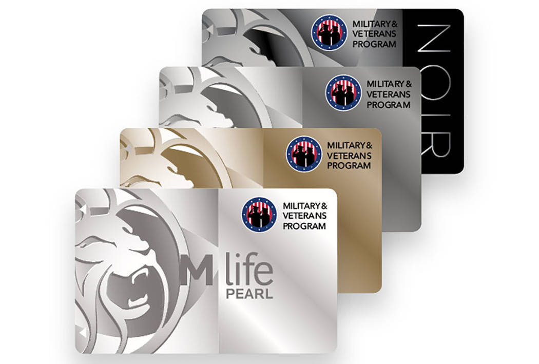 The new MGM Resorts International M life MVP cards identify members of the military, veterans and their spouses. (MGM Resorts International)
